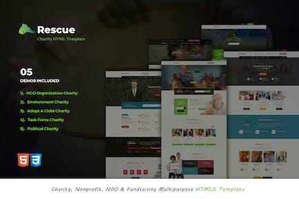 Rescue - Nonprofit Multipurpose HTML5 Template