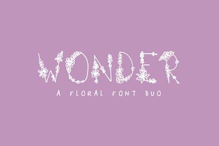 Чудо-цветочный шрифт