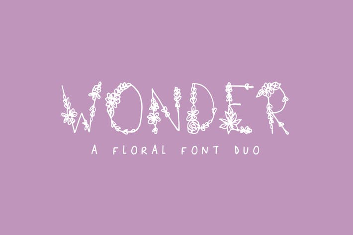 Thumbnail for Wonder Floral Font