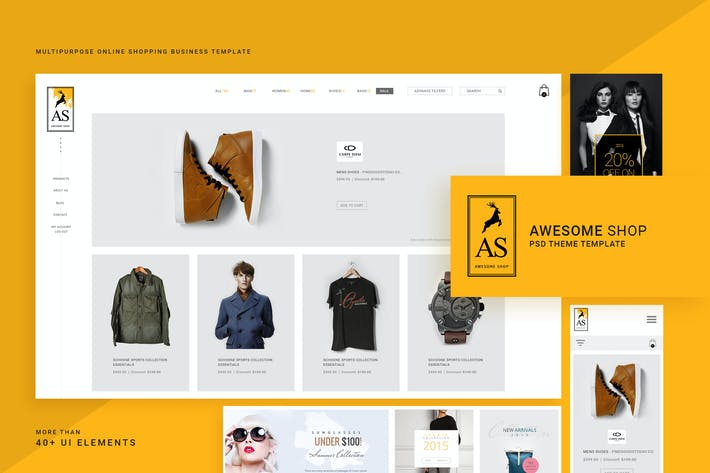 Thumbnail for Awesome  Shop PSD Template