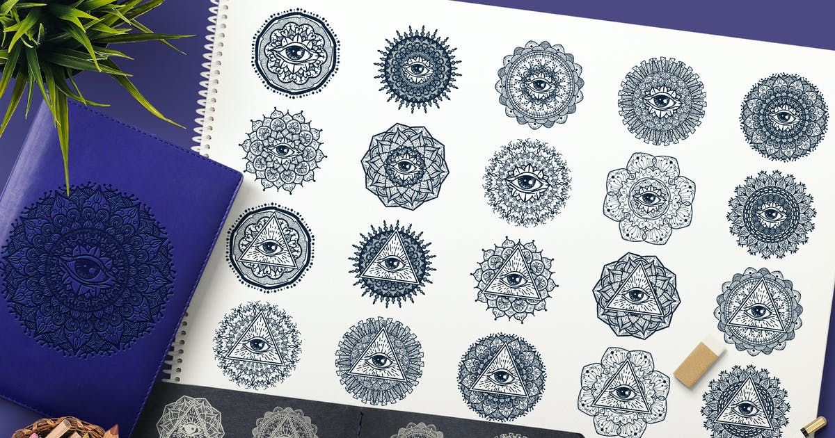 Download Mystical Mandala With Eye In Triangle by barsrsind