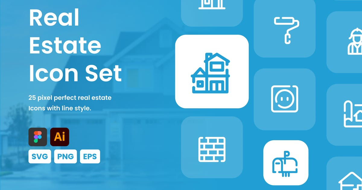 Download Real Estate Line Icon Set by mhudaaa