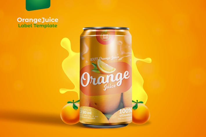 Thumbnail for Orange Dose VerpackungsVorlage