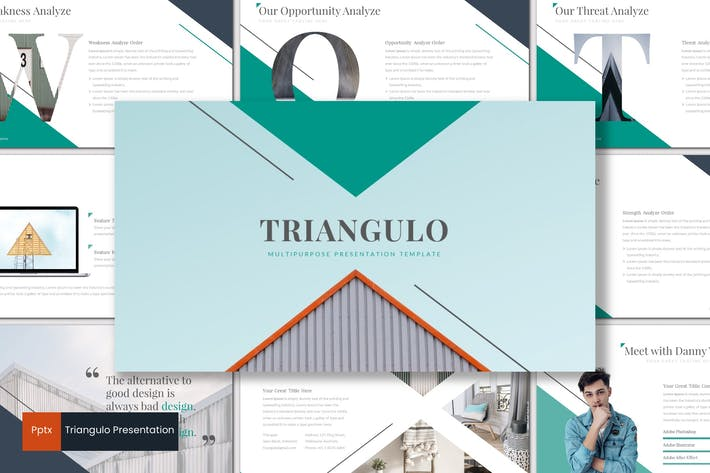 Thumbnail for Triangulo - Powerpoint Template
