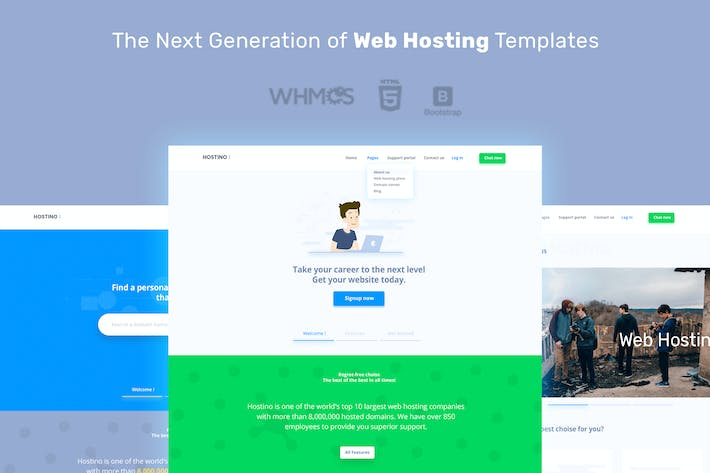 Download 14 Hosting Website Templates - Envato Elements