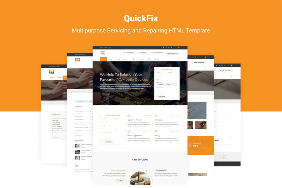 QuickFix   Servicing and Repairing HTML Template
