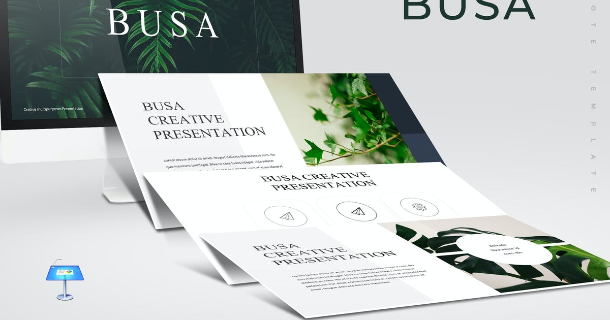 Download Busa - Keynote Template by aqrstudio