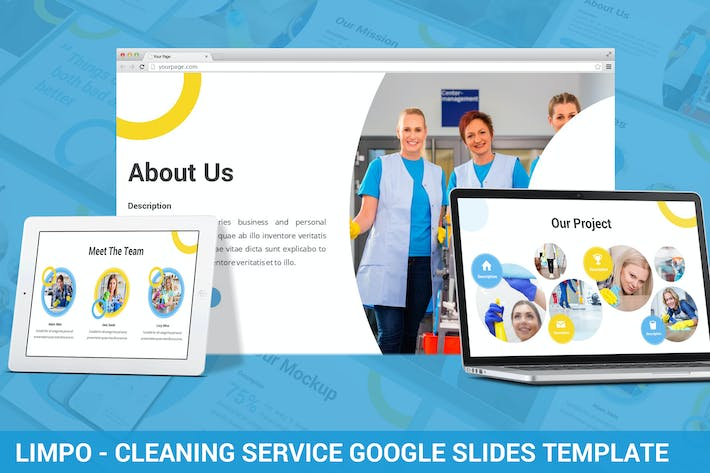 Thumbnail for Limpo - Cleaning Service Google Slides Template