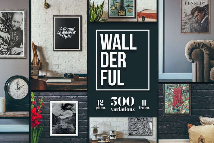 "Thumbnail for ""Wallderful"" - Frames Mockups"