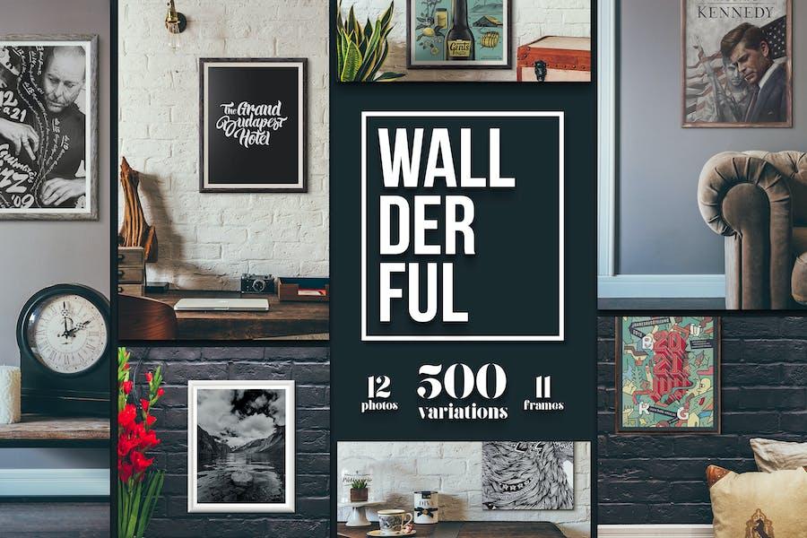 """Wallderful"" - Frames Mockups"
