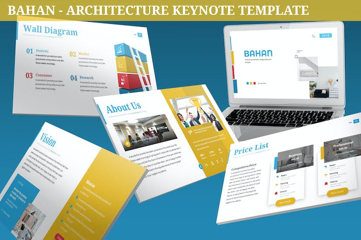 Thumbnail for Bahan - Architecture Keynote Template