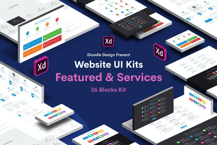 Thumbnail for 36 Blocks UI Kit Website Featured & Services