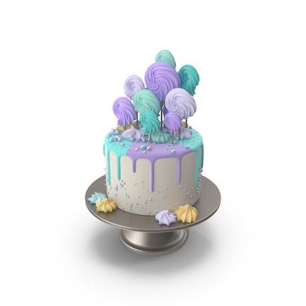 Bunte Geburtstagstorte