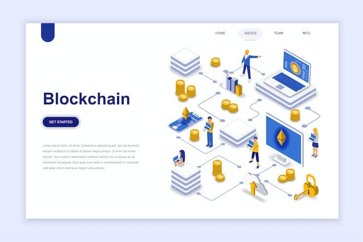 Blockchain Isometric Landing Page