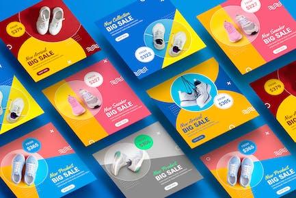 Shoes Fashion Trend Color Colour Banner Templates
