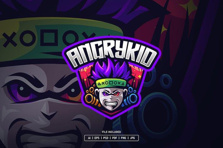 Thumbnail for Angry kid esport logo