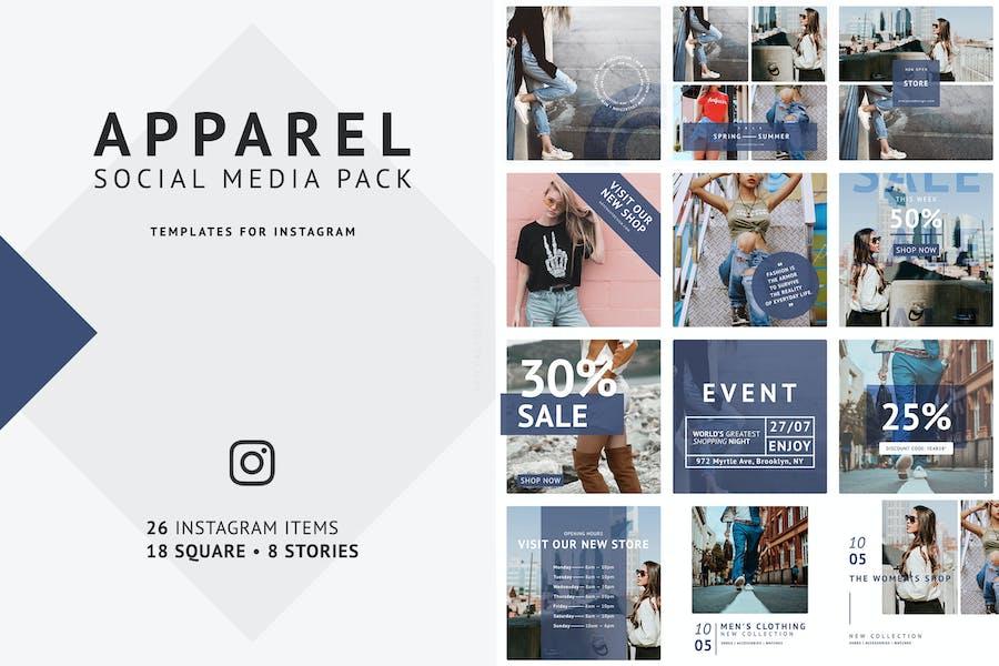 Apparel Social Media Pack