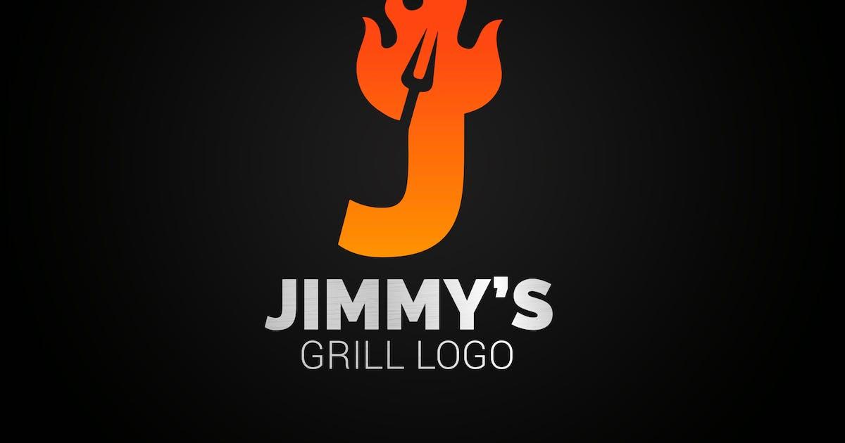 Download Letter J Fire Grill Logo by SmartDesigns_eu