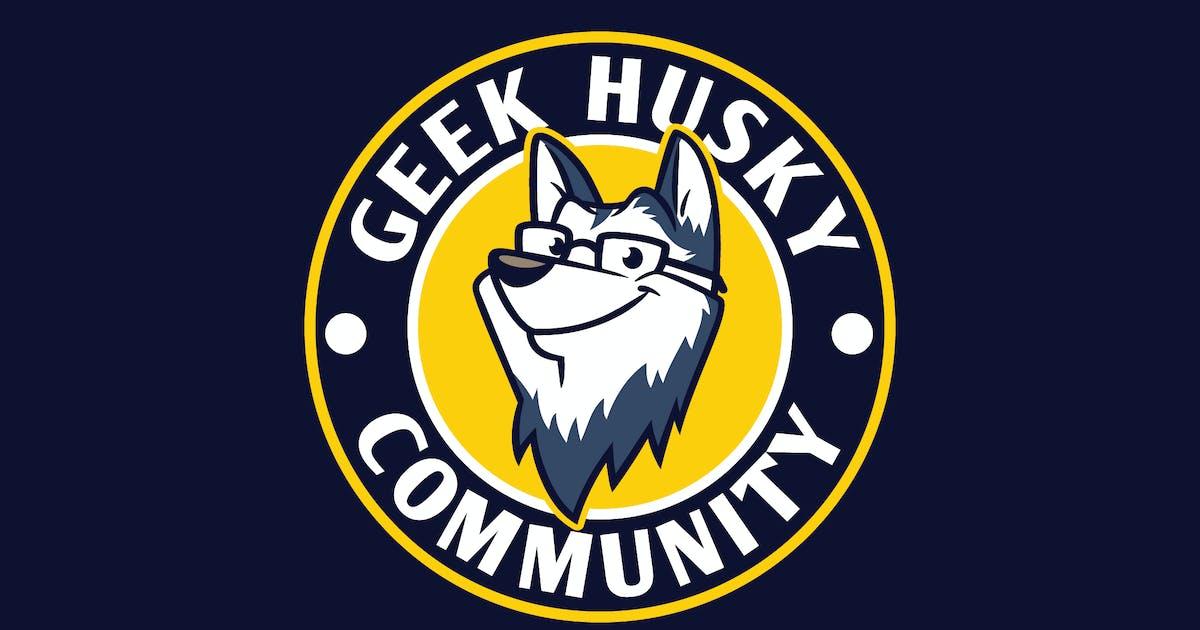 Download Cartoon Geek Husky Mascot Character Emblem Logo by Suhandi