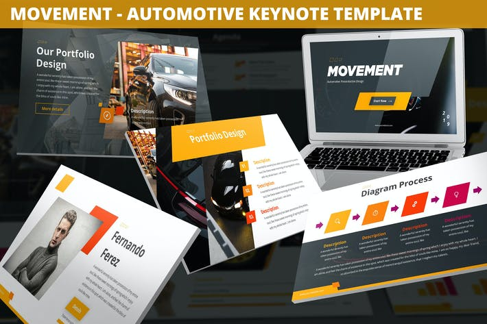 Thumbnail for Movement - Automotive Keynote Template