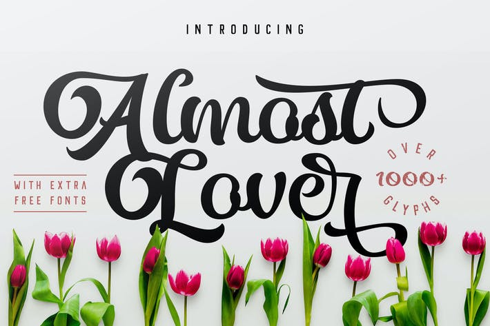 Thumbnail for Almost Lover + Free Fonts