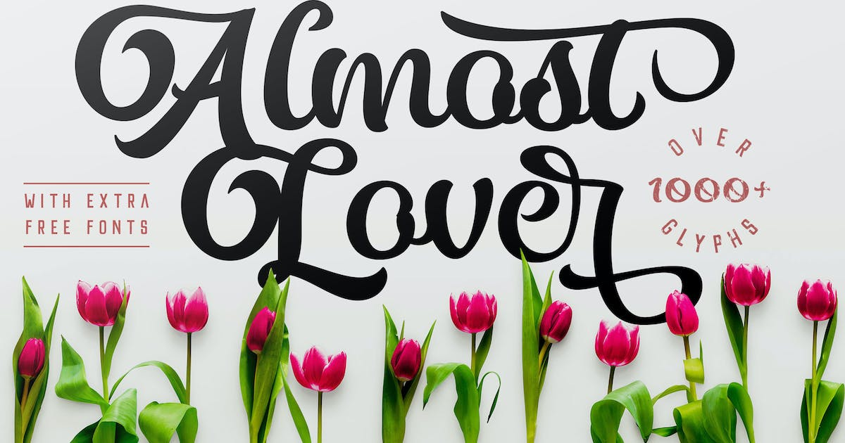 Download Almost Lover + Free Fonts by adamfathony