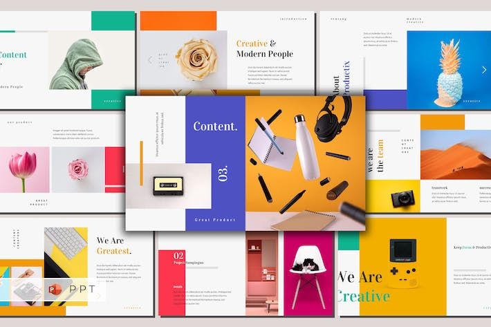 Cover Image For PRODUCTIX - Creative Powerpoint Template