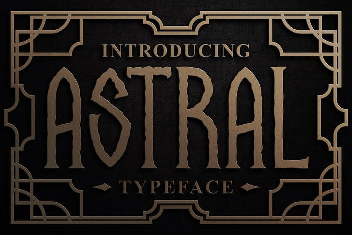 Astral display font