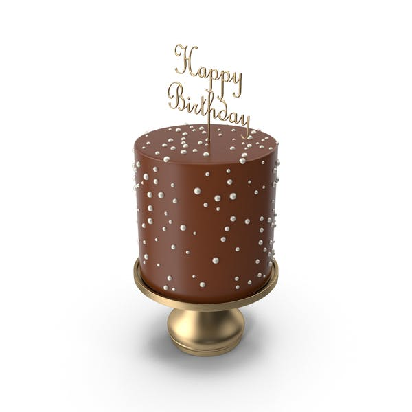 Thumbnail for Chocolate Cake with Gold Happy Birthday Topper