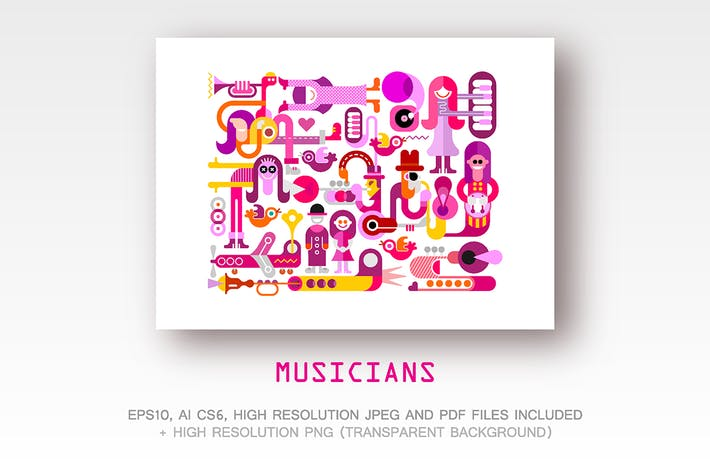 Thumbnail for Musicians. People playing musical instruments