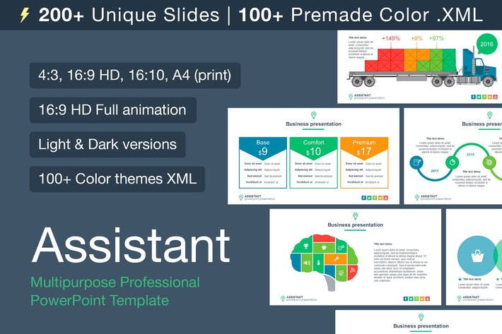 Thumbnail for Assistant multipurpose template