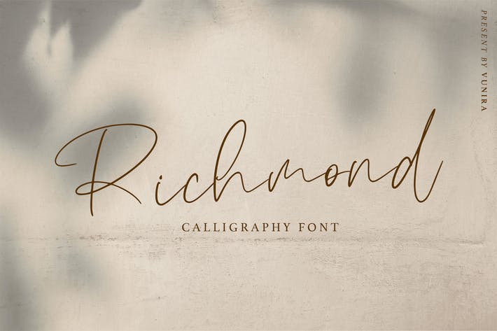 Thumbnail for Richmond | Calligraphy Font