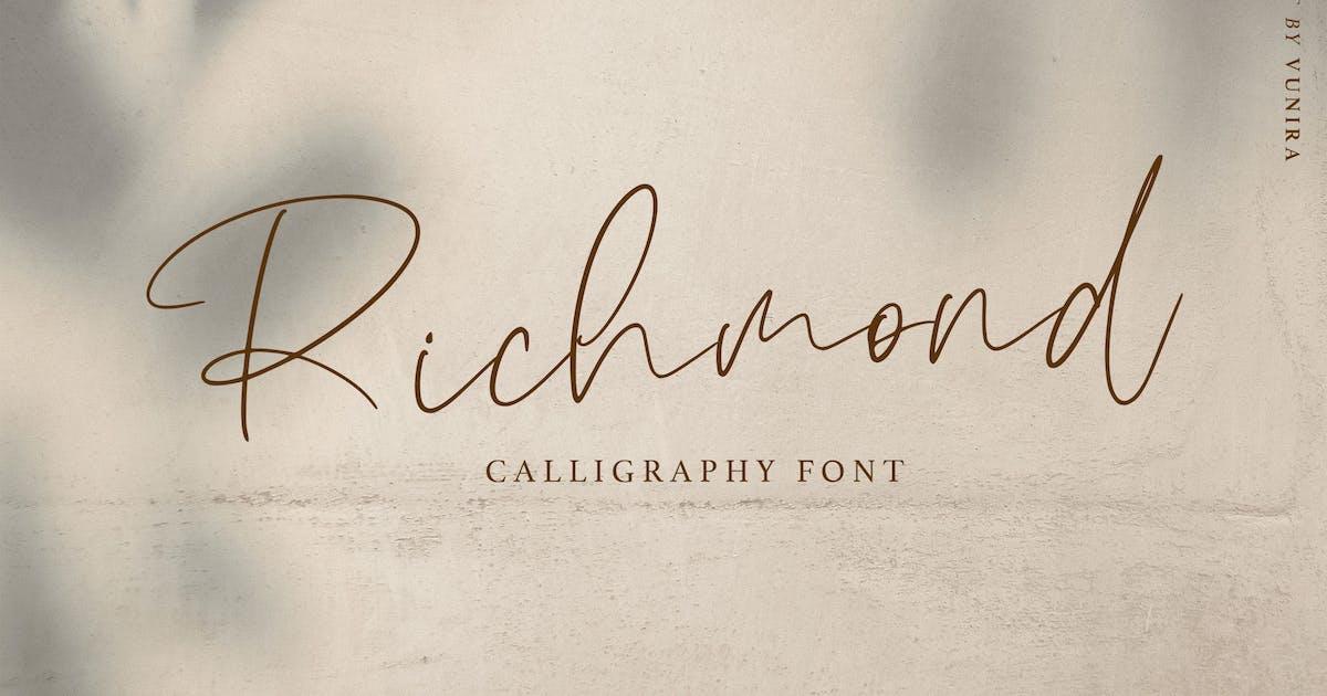 Download Richmond | Calligraphy Font by Vunira