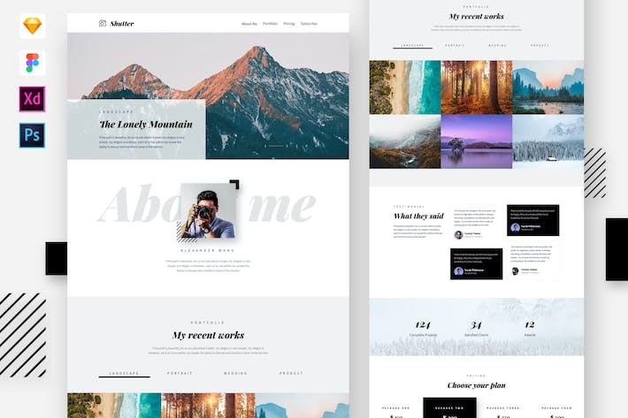 Thumbnail for Shutter - Photography Website Template