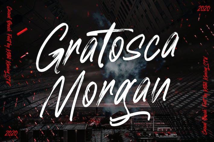 Thumbnail for Gratosca Morgan - Brush Font