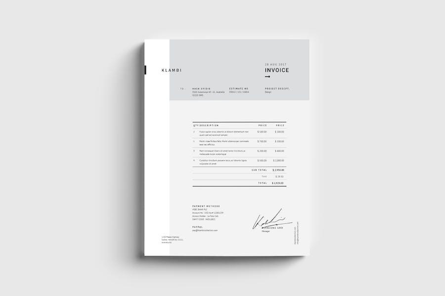 Fashion Invoice