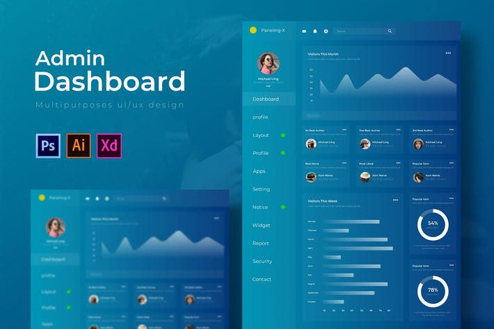 Thumbnail for Paneling X Dashboard | Admin Template