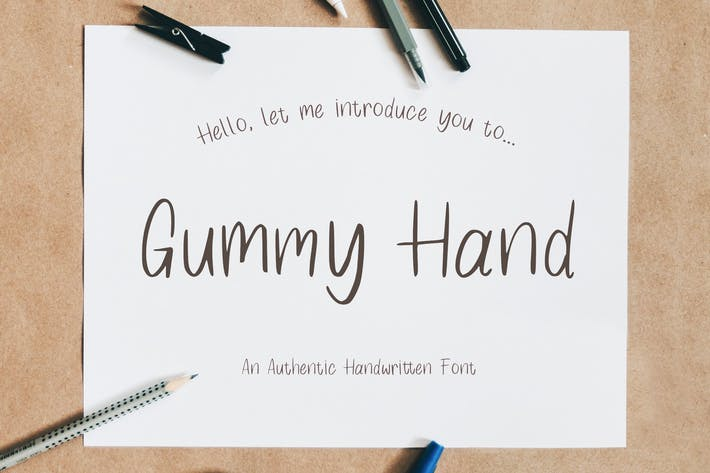 Thumbnail for Gummy Hand - Authentic Handwritten Font