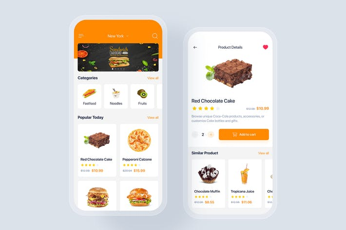 Food app mobile UI Concept