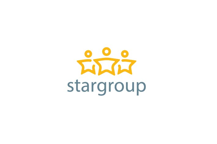 Thumbnail for Star Group Logo Template