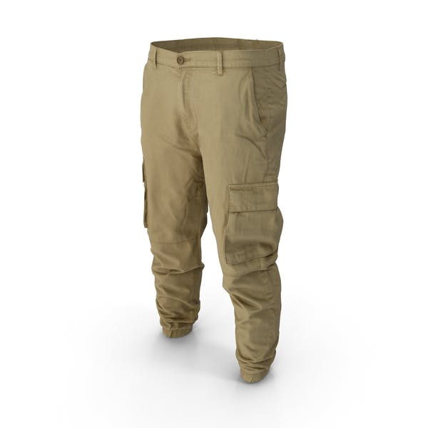 Thumbnail for Mens Khaki Cargo Pants