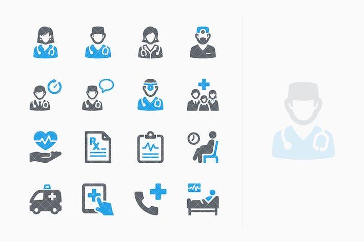Thumbnail for Blue Medicina Services Íconos Kit 3 - Sympa Series