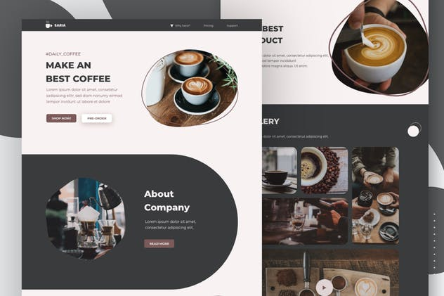 Coffee Business Email News Letter
