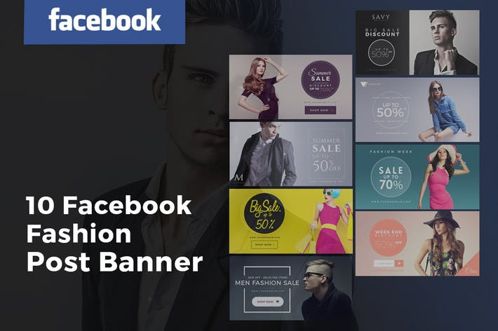 Thumbnail for Facebook Fashion Post Banners Ads