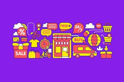 Tienda Online Elemento Gráfico