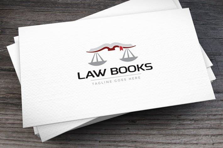 Thumbnail for Law Books Logo Template
