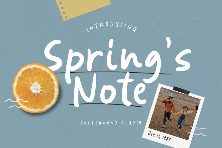 Thumbnail for Spring's Note – Handwritten Font