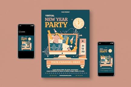 Fête virtuelle du Nouvel An