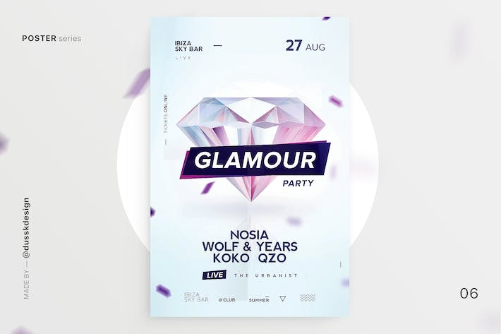 Thumbnail for Glamour Club Flyer