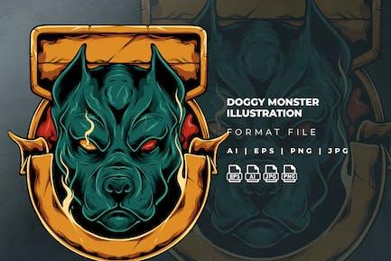 Doggy Monster Illustration